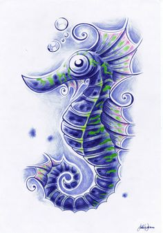seahorse tattoos - Google Search