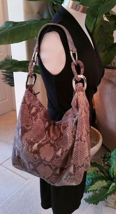 045db939a5 Michael Kors Python Snakeskin Embossed Bag Purse Tote  MichaelKors   TotesShoppers