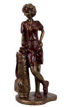 Urban Trends Collection Resin Lady Golfer UTC80219