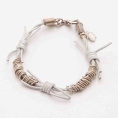 "Leather ""Barbed Wire"" Bracelet"