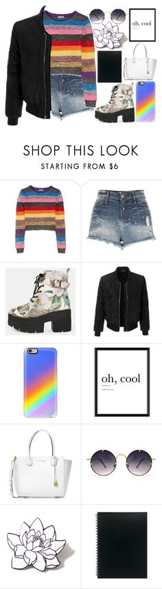 """Platform boots"" by fangirl-preferences ❤ liked on Polyvore featuring Miu Miu, River Island, LE3NO, Casetify, Michael Kors, Spitfire and PINTRILL"