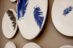 ORIGINAL feather motif by Jessica Howard Ceramics by jessicahoward, $120.00