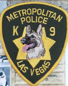 Las Vegas Police K9 patch, more at www.PoliceHotels.com