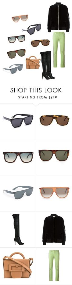 """""""Flat-top Sunglasses..**"""" by yagna ❤ liked on Polyvore featuring Givenchy, Thierry Lasry, Tom Ford, Yves Saint Laurent, RetroSuperFuture, CÉLINE, Jimmy Choo, IRO, Maison Margiela and Etro"""