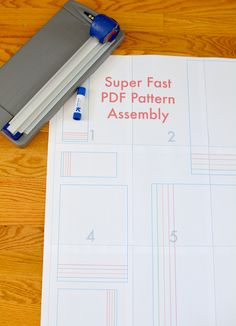 sew: Superfast PDF Pattern Assembly || crafterhours