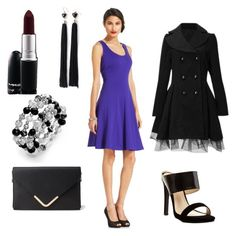 Midnight Madness by ohsosara64 on Polyvore featuring polyvore, fashion, style, Nine West, Charlotte Russe, Forever 21, Style & Co., MAC Cosmetics and clothing