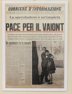 Il Vajont visto dalle prime pagine dei giornali - Foto e video - Corriere delle Alpi