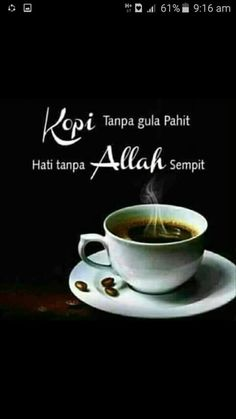 Doa Islam, Allah Islam, Muslim Quotes, Islamic Quotes, Words Quotes, Life Quotes, Film Logo, Coffee Pictures, Self Reminder