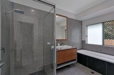 Great colours used in this gorgeous bathroom built by Dixon Homes Cairns