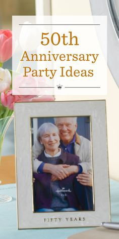 50th Anniversary Party Ideas | Celebrate longtime love with these helpful party planning tips and 50th wedding anniversary party ideas.
