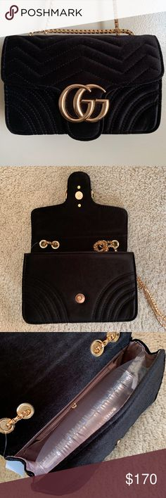 ce2f5df79c27 New Gucci GG Marmot Velvet Bag Mini Purse jvovatra Jvovrratra Gucci Other  Mini Purse, Mini