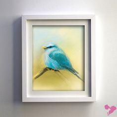 8x10 Little Blue Bird Fine Art Print on Etsy, $24.99