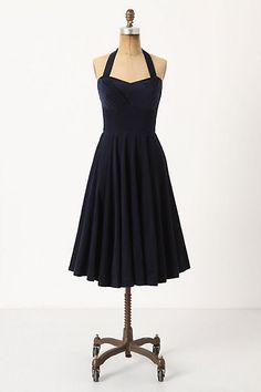 Rodna Halter Dress $158.00...love the silhouette but needs to be in a print or bright colors