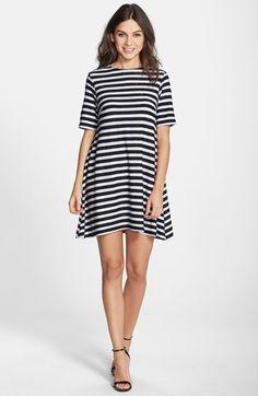 Stripe Knit A-Line Dress