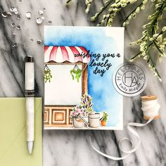 January 2019 My Monthly Hero Arts kit Craft App, Hero Crafts, Hero Arts Cards, Diy Crafts For Teen Girls, Art And Craft Videos, Arts And Crafts House, Easy Art Projects, Watercolor Cards, Card Kit
