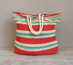 The Asbury Crochet Tote - A Free Pattern by Croyden Crochet