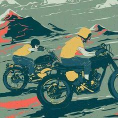 Cafe racer art