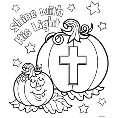 Jesus Shine In Me Coloring Picture For Halloween Sunday