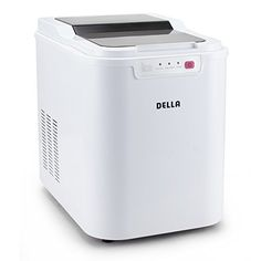 Della Ice Maker Electric Machine Countertop Cube Size Easy-Touch Buttons Yield Up To 26 Pounds of Ice Daily, White (Plastic) White Appliances, Kitchen Appliances, Kitchen Gadgets, Island On Wheels, Best Blenders, Ice Cream Maker, Kitchen Countertops, Cool Kitchens, Cuba