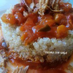 """23 Me gusta, 1 comentarios - @CocinaconGuga (@cocina_con_guga_) en Instagram: """"Receta de Quinoa con Pisto #cocinaconguga #tomate #pimientorojo #pimientoverde #calabacin…"""""""