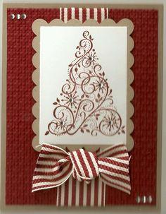 Stampin Up Snow Swirled Card Kit Christmas | eBay
