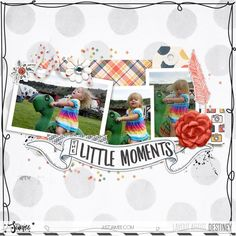 digi layout page using just jaimees good things main kit from the-lilypad