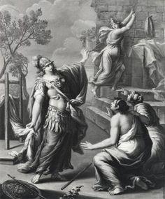 Aracne era una ragazza abilissima nel tessere,tanto girava voce che avesse imparato l'arte direttamente da Atena. La ragazza invece affermava che fosse la dea ad aver imparato da lei e ne era così sicura che la sfidò ad una gara. Atena si adirò, distrusse la tela e colpì Aracne con la sua spola. Aracne, disperata, si impiccò, ma la dea la trasformò in un ragno costringendola a filare e tessere per tutta la vita dalla bocca, punita per l'arroganza dimostrata nell'aver osato sfidare la dea.