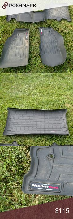 Weather Tech Jeep liberty mats. Full set! Full set of mats--including back mat! In used condition, but still have so much life in them. Pictures taken after mats cleaned. Will be expensive to ship, keep in mind when looking at price. For reference, I had them in a 2012 Jeep Liberty. I am not sure if they would fit in any other vehicle. Weather Tech Other