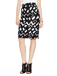 an ikat-esque print on a polished pencil skirt strikes the perfect work-play balance. (june, 2015)