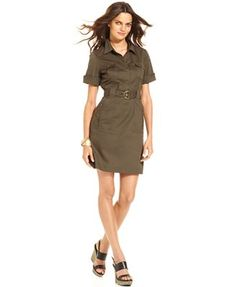 shirt dress with only top buttons