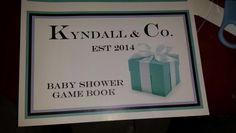 Tiffany inspired baby shower game booklet