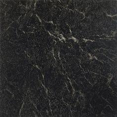 "Achim Importing Co Nexus 12"" x 12"" Vinyl Tile in Black With White Vein Marble"
