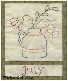 Ellie's Quiltplace - Country Calendar BOM