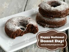 Healthy Donuts to celebrate National Donut Day. Gluten/Grain-Free! Sugar-Free! Dairy-Free! Low-Carb!