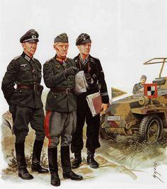 Hoth at Kursk Ww2 Uniforms, German Uniforms, Military Uniforms, German Soldiers Ww2, German Army, Military Figures, Military Art, Luftwaffe, Army Drawing