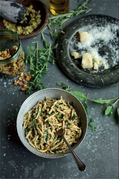Pasta twists with a herb and nut sauce recipe from Pasta by Antonio Carluccio | Cooked.com