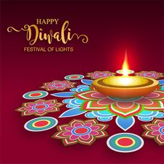 Illustration about Happy Diwali festival card with gold diya patterned and crystals on paper color Background. Illustration of feathers, chaturthi, festival - 128119655