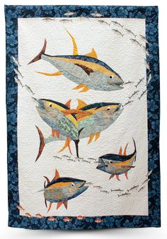 """""""Tuna Time"""" by Yolanda Shelp.  Best Humor. 2014 Quilt Show Winners - Glendale Quilt Guild."""