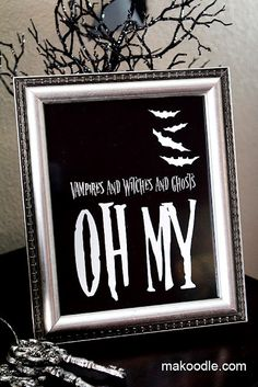 This well be a great addition to my Halloween decor! 5 Halloween Decor Printables - all are very unique!