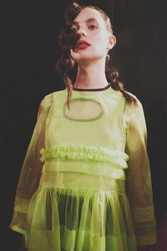 Molly Goddard SS17 womenswear backstage Dazed