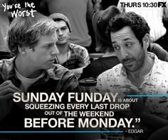Sunday Funday better than a Monday. Can only do it one way, & that is the drunk way! You're The Worst, The Mick, All The Feels, Nerd Love, How I Met Your Mother, Sunday Funday, Movies And Tv Shows, The Help, Love Story