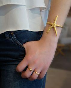 Colección CAPRI, anillos, pulsera, pendientes y gargantilla con estrellas de mar
