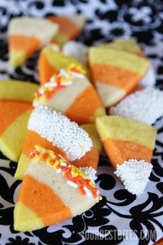 Candy corn sugar cookies!