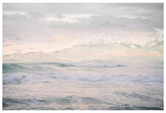 Ocean waves photography, abstract water oversized art, Sea landscape print, pastel pink, extra large wall art, panoramic photo poster, 24x36 by RivuletPhotography on Etsy https://www.etsy.com/listing/218740080/ocean-waves-photography-abstract-water