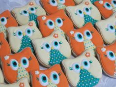 Wise Owl Decorated Sugar Cookies on Etsy, $24.00
