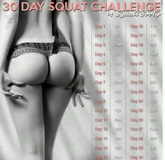 30 days squat challenge - my mission for september.