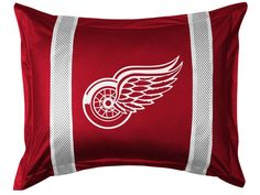 Detroit Red Wings NHL Sidelines Pillow Sham/Cover/Case