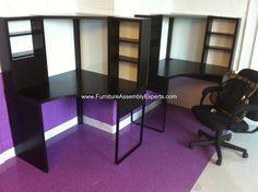 ikea micke desks workstation assembled for kipp DC in Washington DC by Furniture assembly experts LLC