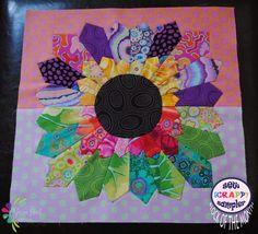 Image of Block 2 ~ Sew Scrappy Sampler ~ Tequila Sunrise