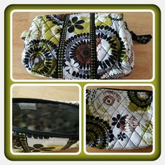 Vera Bradley Small Cosmetic Bag  Brand New Never Used Vera Bradley Cosmetic Bag In Retired Rare Cocoa Moss Pattern. This Bag Is Perfect Except For A Small Stain On The Back It Looks Like Ink But I'm Not Sure. Excellent Condition  TRADES  PAYPAL  NO LOWBALLING  Vera Bradley Bags Cosmetic Bags & Cases